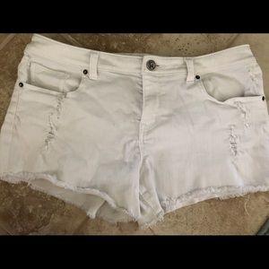 VS Boyfriend White Denim Shorts